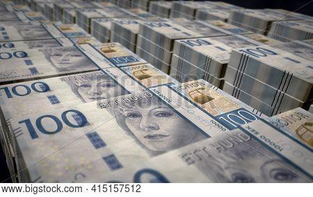 Swedish Krone Money Banknotes Pack Illustration