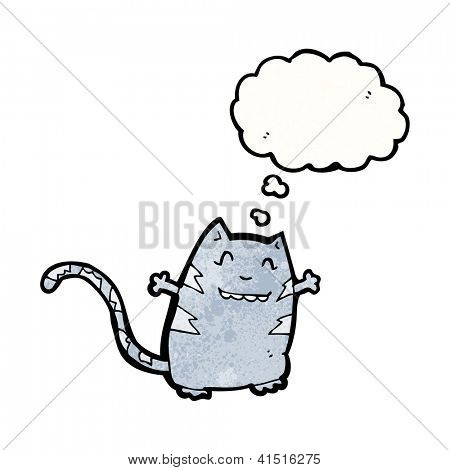 cartoon cat with thought bubble poster