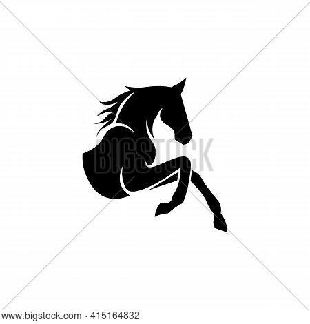 Black Icon Horse Sign. Vector Illustration Eps 10