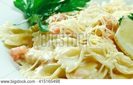 Pasta Al Mascarpone Italian Dish Hailing From Lombardia