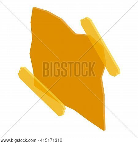 Memo Note Post Icon. Isometric Of Memo Note Post Vector Icon For Web Design Isolated On White Backgr