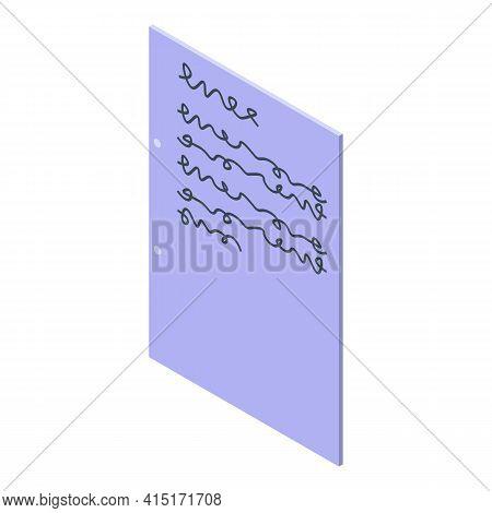 Fridge Memo Note Icon. Isometric Of Fridge Memo Note Vector Icon For Web Design Isolated On White Ba