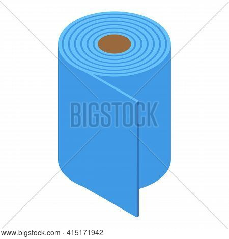 Tissue Roll Icon. Isometric Of Tissue Roll Vector Icon For Web Design Isolated On White Background