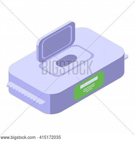 Open Wipes Pack Icon. Isometric Of Open Wipes Pack Vector Icon For Web Design Isolated On White Back
