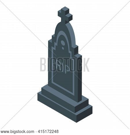 Rip Tomb Icon. Isometric Of Rip Tomb Vector Icon For Web Design Isolated On White Background