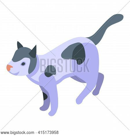 Playful Cat Pet Icon. Isometric Of Playful Cat Pet Vector Icon For Web Design Isolated On White Back