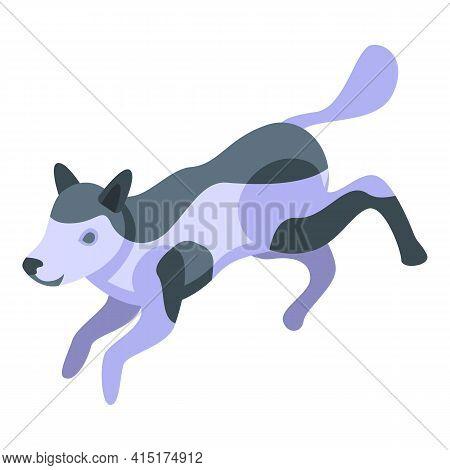 Animal Playful Dog Icon. Isometric Of Animal Playful Dog Vector Icon For Web Design Isolated On Whit