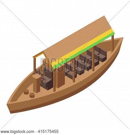 Travel Floating Market Icon. Isometric Of Travel Floating Market Vector Icon For Web Design Isolated