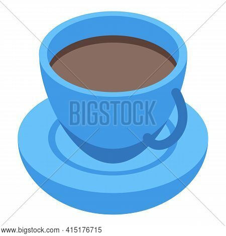 Newspaper Coffee Cup Icon. Isometric Of Newspaper Coffee Cup Vector Icon For Web Design Isolated On