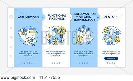 Problem Solving Issues Onboarding Vector Template. Responsive Mobile Website With Icons. Web Page Wa