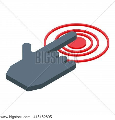 Touch Interaction Icon. Isometric Of Touch Interaction Vector Icon For Web Design Isolated On White