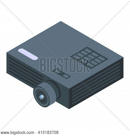 Projector Icon. Isometric Of Projector Vector Icon For Web Design Isolated On White Background