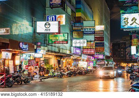Bangkok/thailand-4/6/2020:soi Thaniya Silom Under Covid 19 Situation.silom Is Undoubtedly One Of Ban