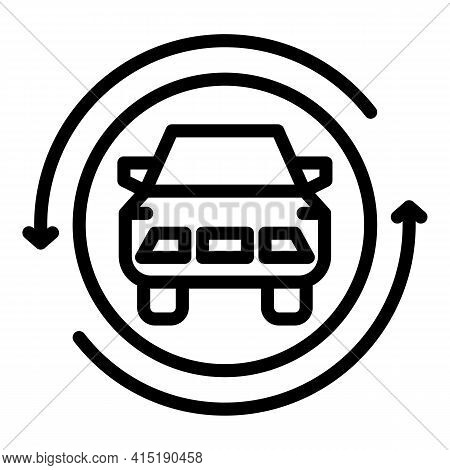 Car Acquisition Icon. Outline Car Acquisition Vector Icon For Web Design Isolated On White Backgroun