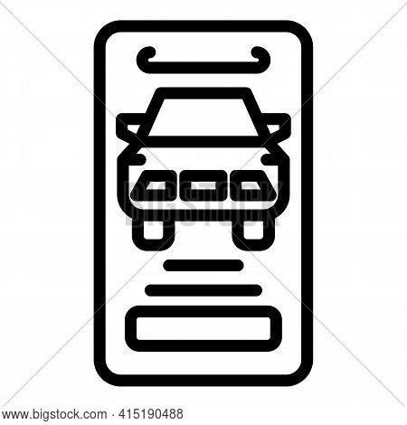 Online Car Buying Icon. Outline Online Car Buying Vector Icon For Web Design Isolated On White Backg