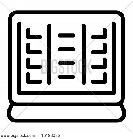 Computer Task Schedule Icon. Outline Computer Task Schedule Vector Icon For Web Design Isolated On W
