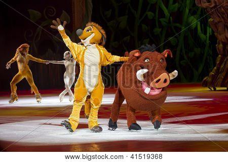 Timon And Pumbaa Waving