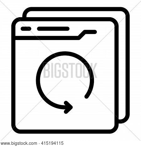 Online Backup Icon. Outline Online Backup Vector Icon For Web Design Isolated On White Background