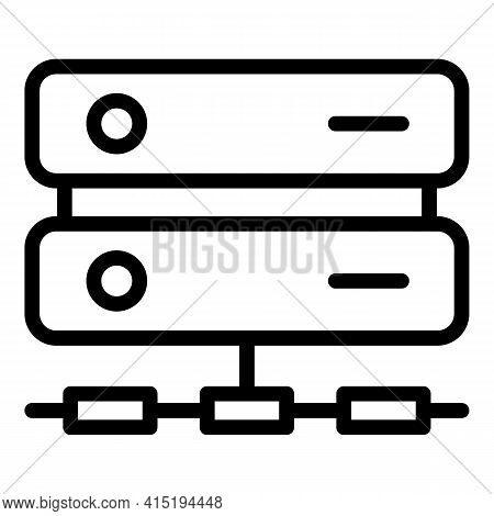Data Recovery Icon. Outline Data Recovery Vector Icon For Web Design Isolated On White Background