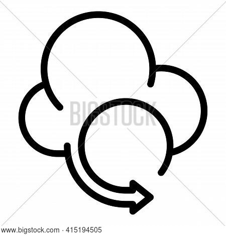 Cloud Refresh Icon. Outline Cloud Refresh Vector Icon For Web Design Isolated On White Background