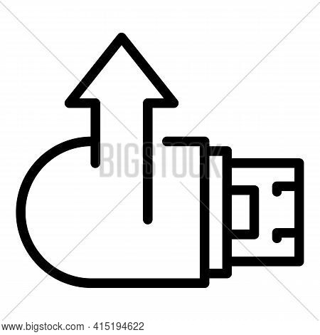 Memory Stick Backup Icon. Outline Memory Stick Backup Vector Icon For Web Design Isolated On White B