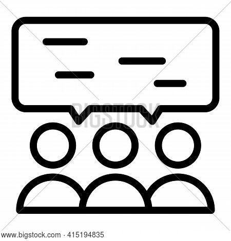 Crew Chat Icon. Outline Crew Chat Vector Icon For Web Design Isolated On White Background