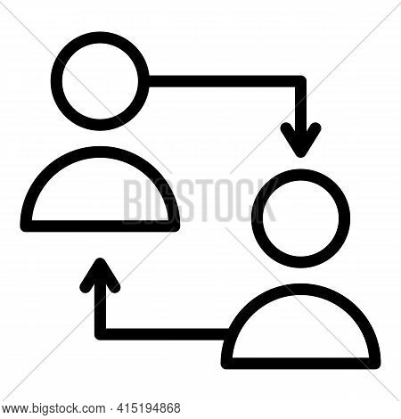 Crew Team Icon. Outline Crew Team Vector Icon For Web Design Isolated On White Background