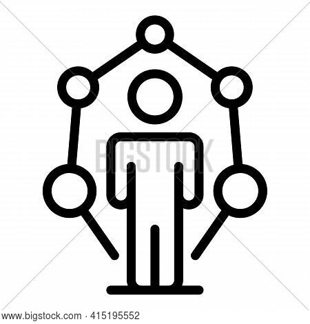 Startup Team Icon. Outline Startup Team Vector Icon For Web Design Isolated On White Background
