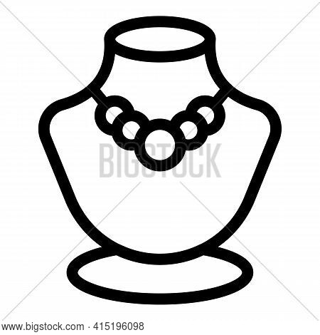 Jewelry Dummy Store Icon. Outline Jewelry Dummy Store Vector Icon For Web Design Isolated On White B