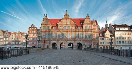Green Gate In Gdansk, Poland. It Is Situated Between Long Market And The River Motlawa.