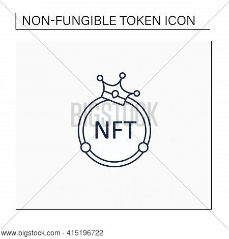 Nft Line Icon. Non Fungible Token. Unique Digital Assets. Assets Exist In Their Own Cryptosystems. C