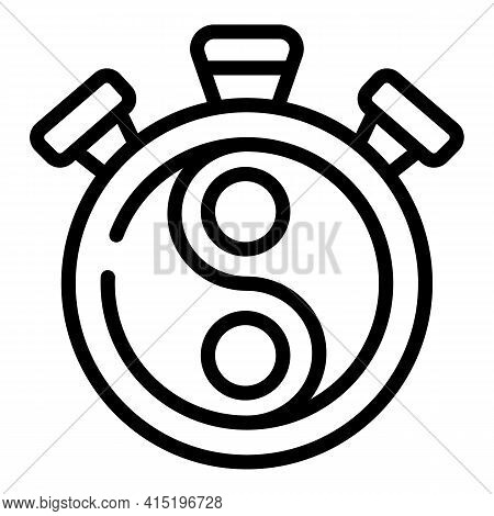 Yin Yang Icon. Outline Yin Yang Vector Icon For Web Design Isolated On White Background