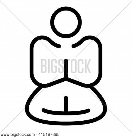 Balance Meditation Icon. Outline Balance Meditation Vector Icon For Web Design Isolated On White Bac