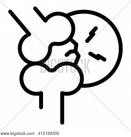 Arthritis Knee Icon. Outline Arthritis Knee Vector Icon For Web Design Isolated On White Background
