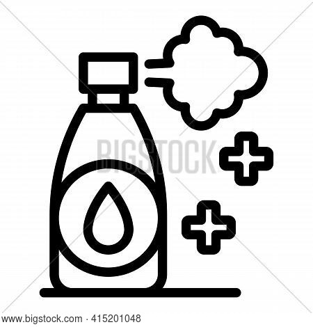 Throat Inhaler Icon. Outline Throat Inhaler Vector Icon For Web Design Isolated On White Background