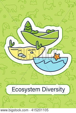 Ecosystem Diversity Brochure.ecosystems Variety, Their Nature And Number Template.flyer, Magazine, P