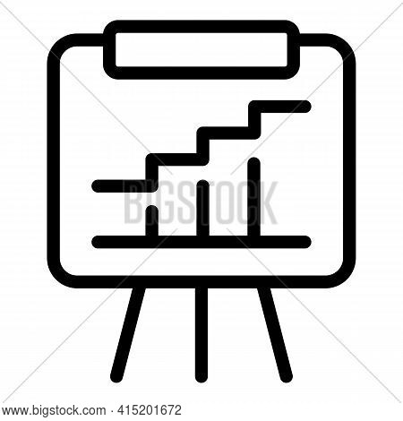 Analytical Report Icon. Outline Analytical Report Vector Icon For Web Design Isolated On White Backg