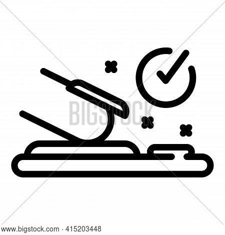 Covid Test Fingerprint Icon. Outline Covid Test Fingerprint Vector Icon For Web Design Isolated On W