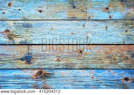 Texture Of The Planks Of An Old Wooden Table In Antiqued Pastel Colors. Vintage Rustic Wooden Backgr