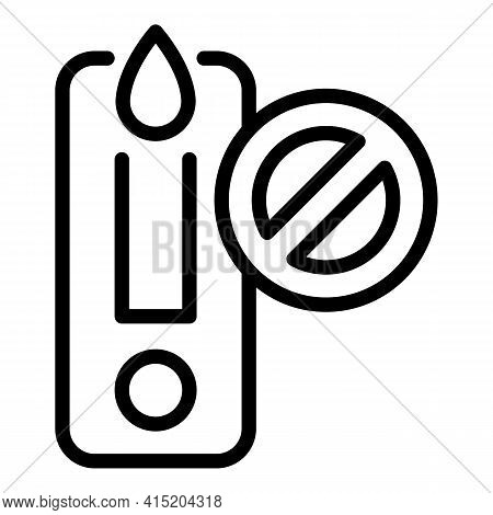 Negative Covid Test Icon. Outline Negative Covid Test Vector Icon For Web Design Isolated On White B