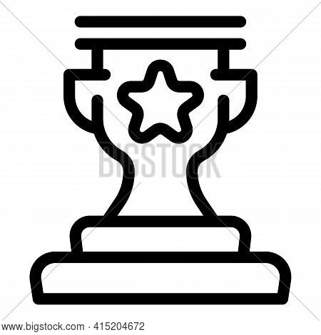 Ranking Premium Cup Icon. Outline Ranking Premium Cup Vector Icon For Web Design Isolated On White B