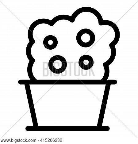 Room Bush Pot Icon. Outline Room Bush Pot Vector Icon For Web Design Isolated On White Background