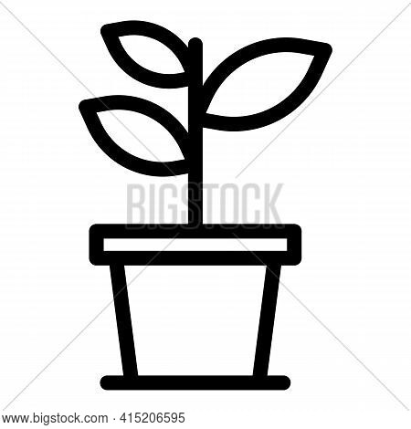 Bio Plant Pot Icon. Outline Bio Plant Pot Vector Icon For Web Design Isolated On White Background