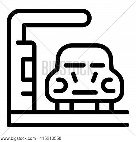 Parking Zone Icon. Outline Parking Zone Vector Icon For Web Design Isolated On White Background