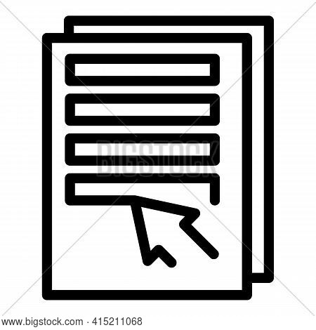 Technical Information Icon. Outline Technical Information Vector Icon For Web Design Isolated On Whi