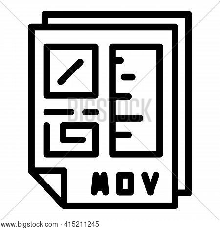 Technical File Document Icon. Outline Technical File Document Vector Icon For Web Design Isolated On