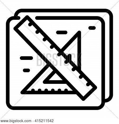 Architect Information Icon. Outline Architect Information Vector Icon For Web Design Isolated On Whi