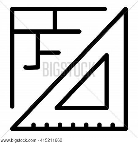 Architect Data Icon. Outline Architect Data Vector Icon For Web Design Isolated On White Background