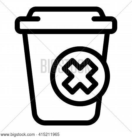 Delete Trash Icon. Outline Delete Trash Vector Icon For Web Design Isolated On White Background