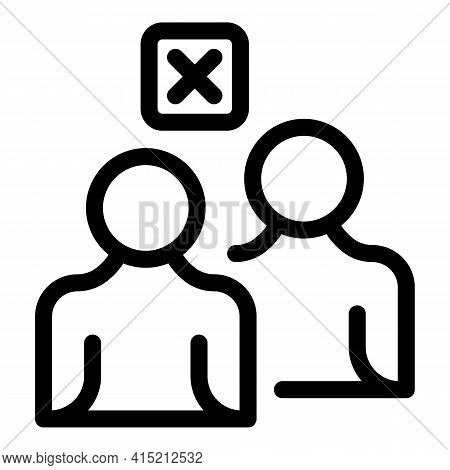 Delete Friends Icon. Outline Delete Friends Vector Icon For Web Design Isolated On White Background